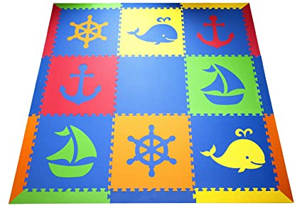 Amazon Softtiles Kids Baby Foam Playmat Nautical Ocean Theme