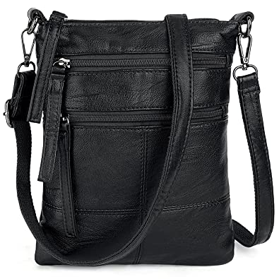 3ed9747851b Image Unavailable. Image not available for. Color  UTO Women Small Crossbody  Bag Roomy Multi Pockets Cell Phone iPad-Mini Kindle Holder Shoulder