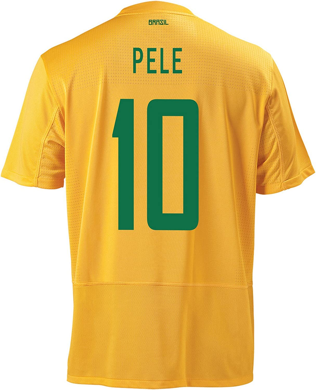 Nike Pele #10 Brazil Home Men Jersey