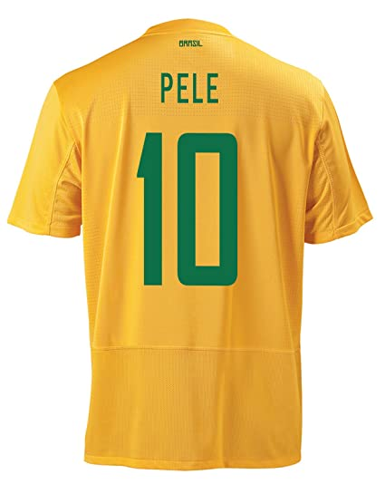 Image Unavailable. Image not available for. Color  Nike Pele  10 Brazil  Home Men Jersey ... d40f55121