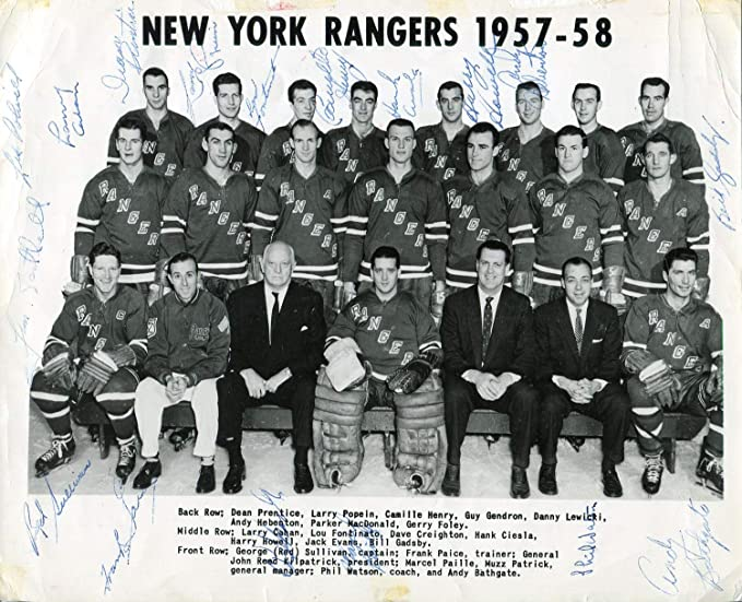 Marcel Paille New York Rangers 8x10 Photo