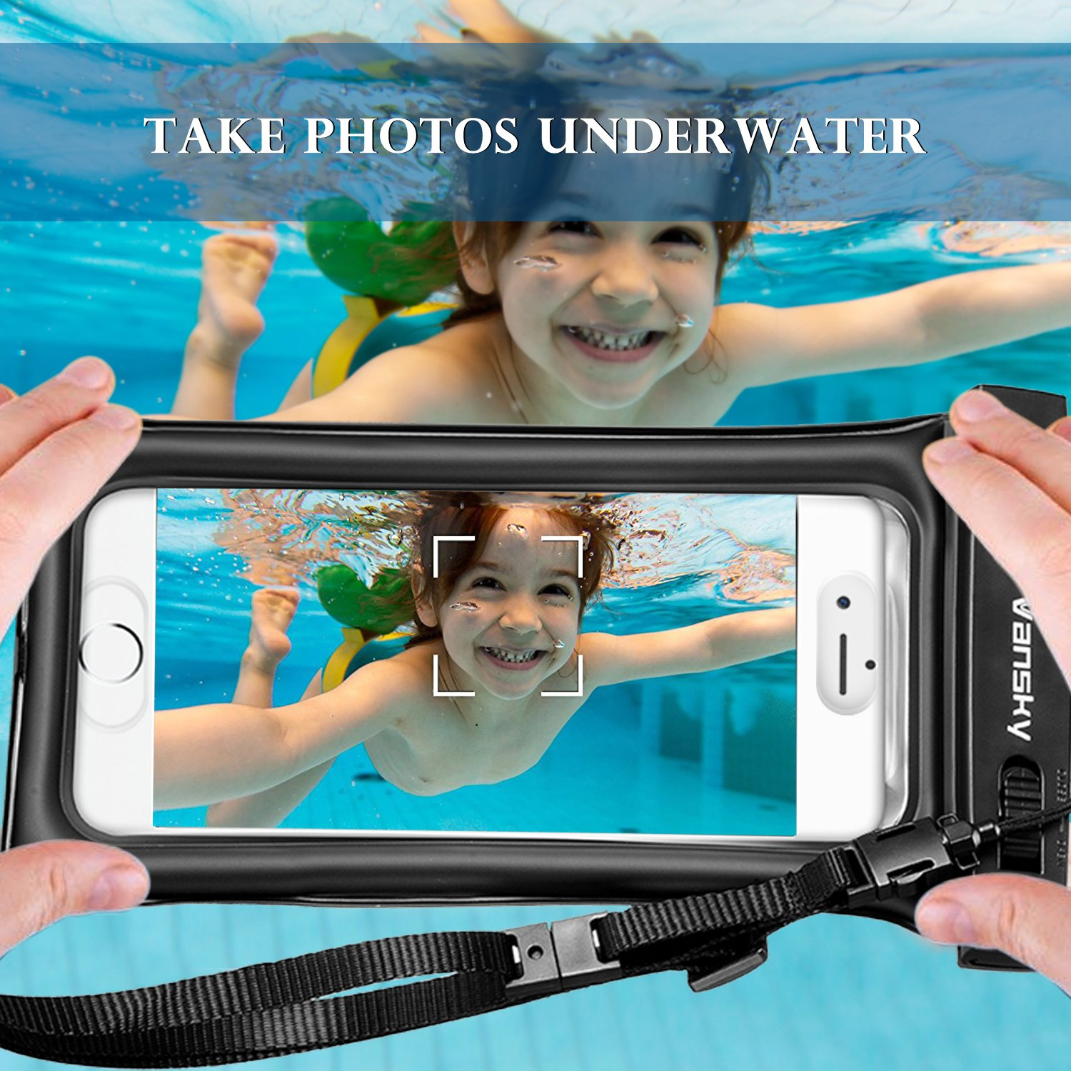 Floatable Waterproof Phone Case, Vansky Waterproof Phone Pouch Dry Bag with Armband and Audio Jack for iPhone X, 8 Plus, 8, 7 Plus, 7, 6s, 6, Andriod; TPU Construction IPX8 Certified by Vansky (Image #6)