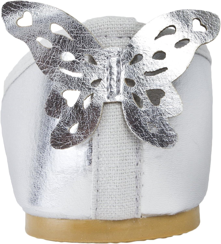 Lora Dora Girls 3D Butterfly Metallic Party Shoes