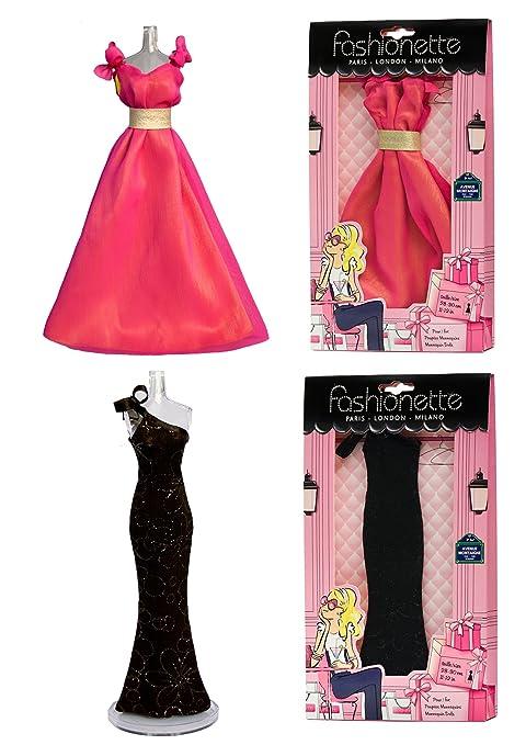 Fashionette Paris 2 Fashion Dresses - Prom dress + Hollywood dress - to fit Barbie