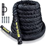 Affenlaskan Battle Ropes with Anchor Kit, Full Body Workout Equipment for Crossfit Training Home Gym & Fitness Exercises…