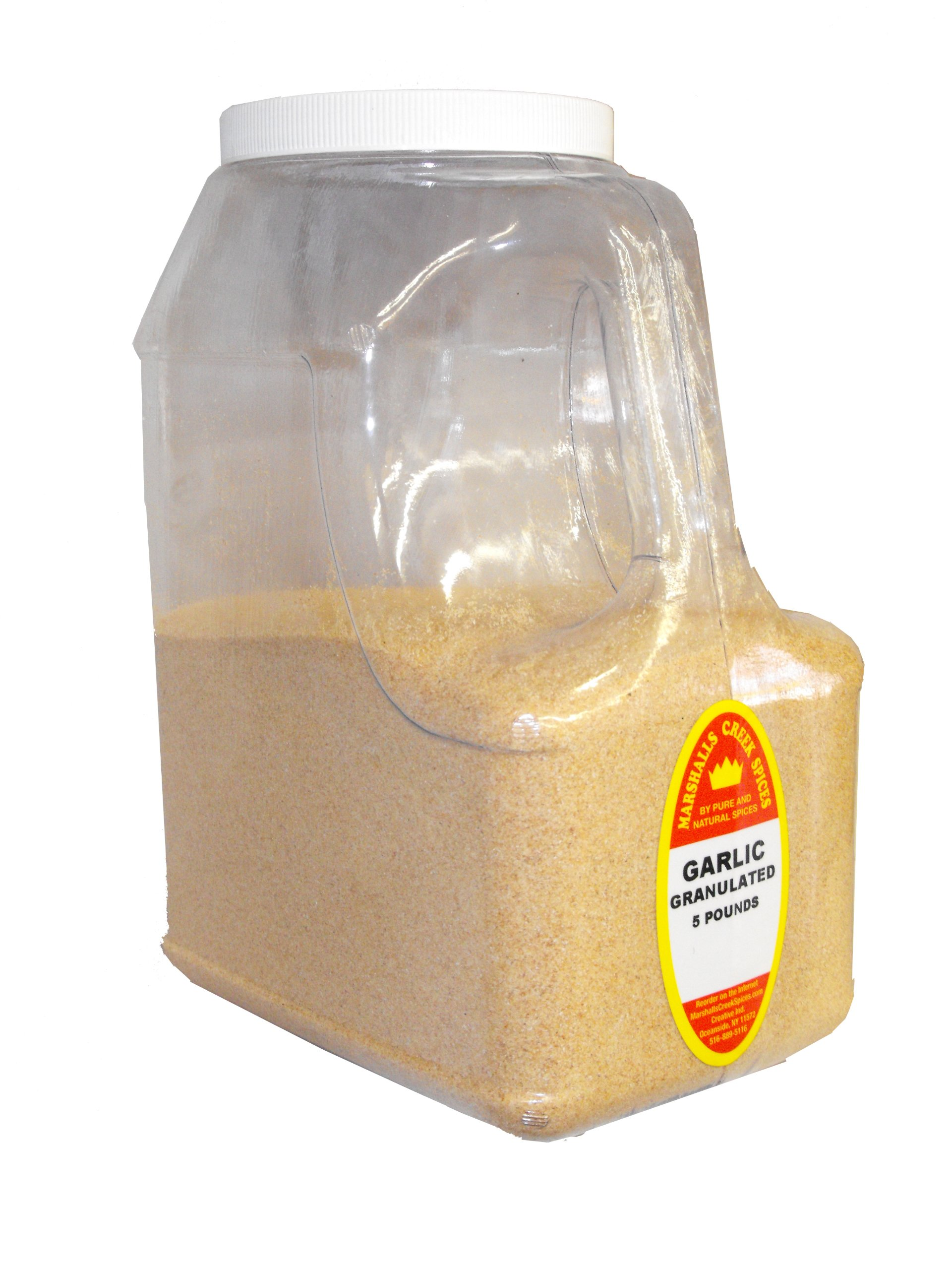 Marshalls Creek Spices Garlic Powder Granulated Jug Restaurant Size, 5 Pound