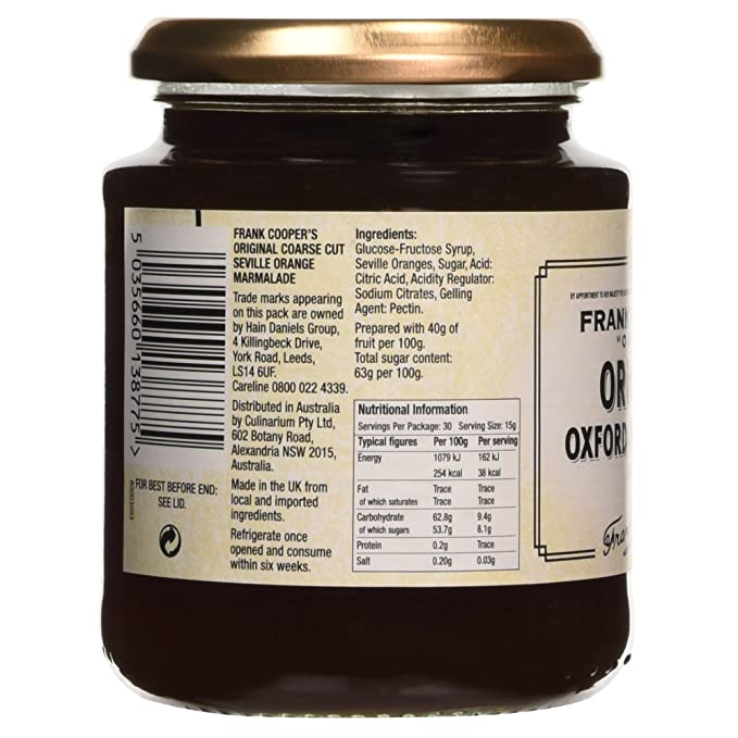 Frank Coopers - Original Oxford Marmalade - Coarse Cut - 454g: Amazon.es: Alimentación y bebidas