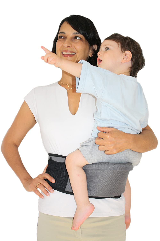 Pomfitis Side Ride Baby Toddler Kid Child Hip Seat Carrier Black