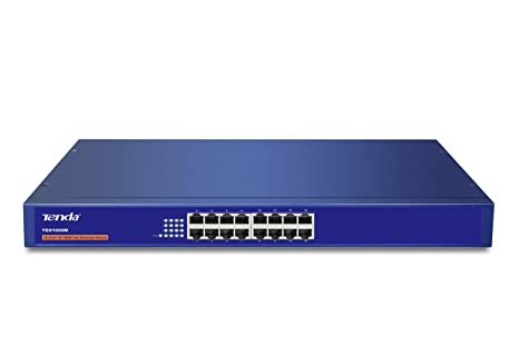 TENDA TE TEH1600M 16 Port 10/100Mbps Fast ETH Rackmount Switch Network Hubs