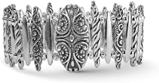 product image for Carolyn Pollack Sterling Silver Magnetic Clasp Oval Link Bracelet Size S, M or L