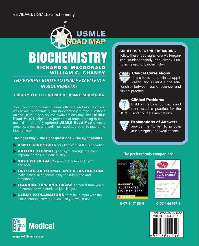 Buy Usmle Road Map Biochemistry Lange Usmle Road Maps Book Online