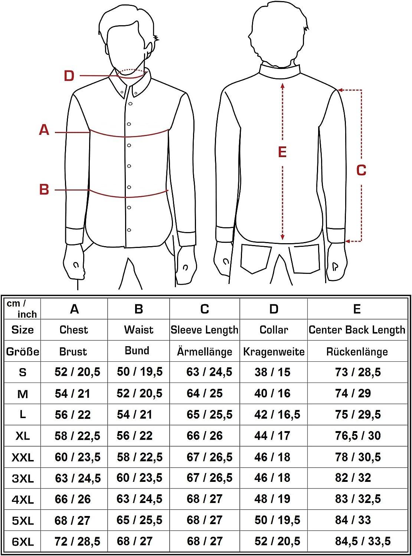 Slim Fit//S 6XL JEEL Camicia da Uomo//Business Tuta Tempo Libero a Maniche Lunghe//Facile Ferro