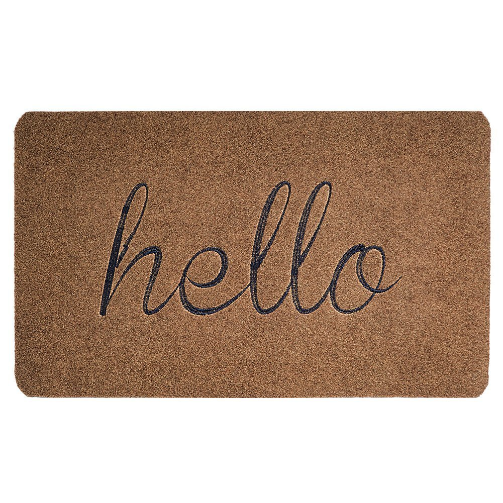 Hello Front Welcome Entrance Door Mats for Indoor Outdoor Entry Garage Patio High Traffic Areas Shoe Rugs