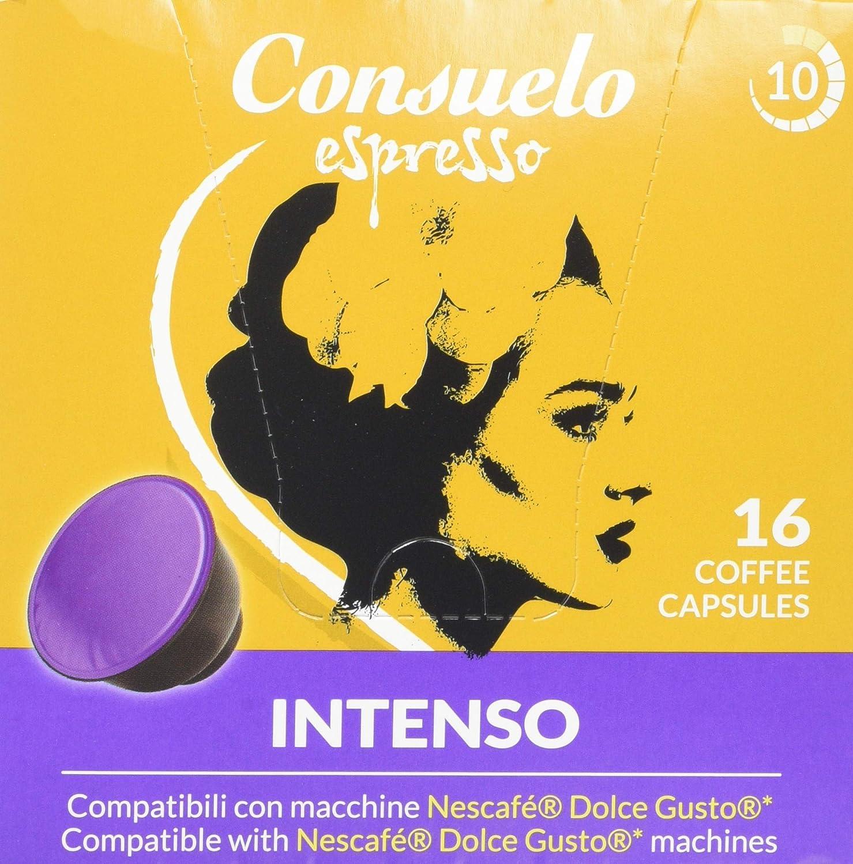 Consuelo - cápsulas de café compatibles con Dolce Gusto* - Intenso ...