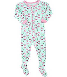 b1afab8f8c Leveret Baby Girls Footed Pajamas Sleeper 100% Cotton Kids   Toddler Pjs (3  Months