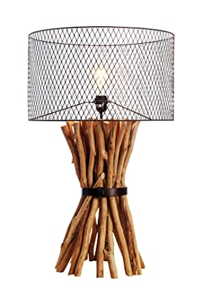 Branches table lamp Chrome Othentique Industrial Steampunk Table Lamp Natural Branches Bunched Elementaire Design Rusty Metal Round Amazoncom Othentique Industrial Steampunk Table Lamp Natural Branches