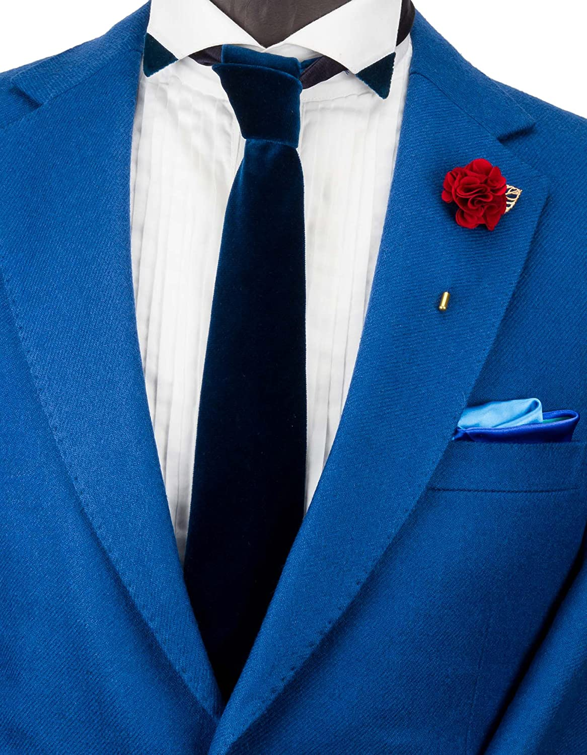 Knighthood Mens Handmade Bunch Flower with Gold Leaf Lapel Pin//Brooch