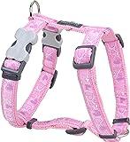 Red Dingo Desinger Dog Harness, Breezy Love Pink (12mm x Neck: 25-39cm / Body 30-44cm) XS