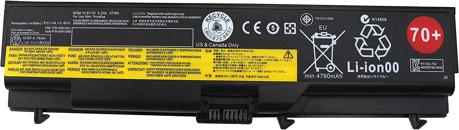 Shareway 45N1001 42N1000 Laptop Battery for Lenovo ThinkPad T430 T430i T530 T530i W530 W530i L430 SL430 0A36302 0A36303 45N1006 45N1007 57Y4185 57Y4186 [10.8V 57WH]