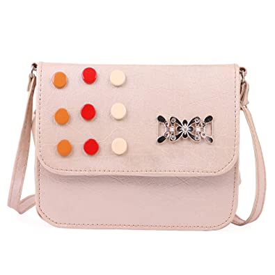 a26a614e0774 Glorist Pink Leatherette Sling Bags For Women's and Girls: Amazon.in: Shoes  & Handbags
