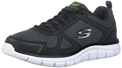 Mens Track Bucolo Oxford, Black, Medium Skechers