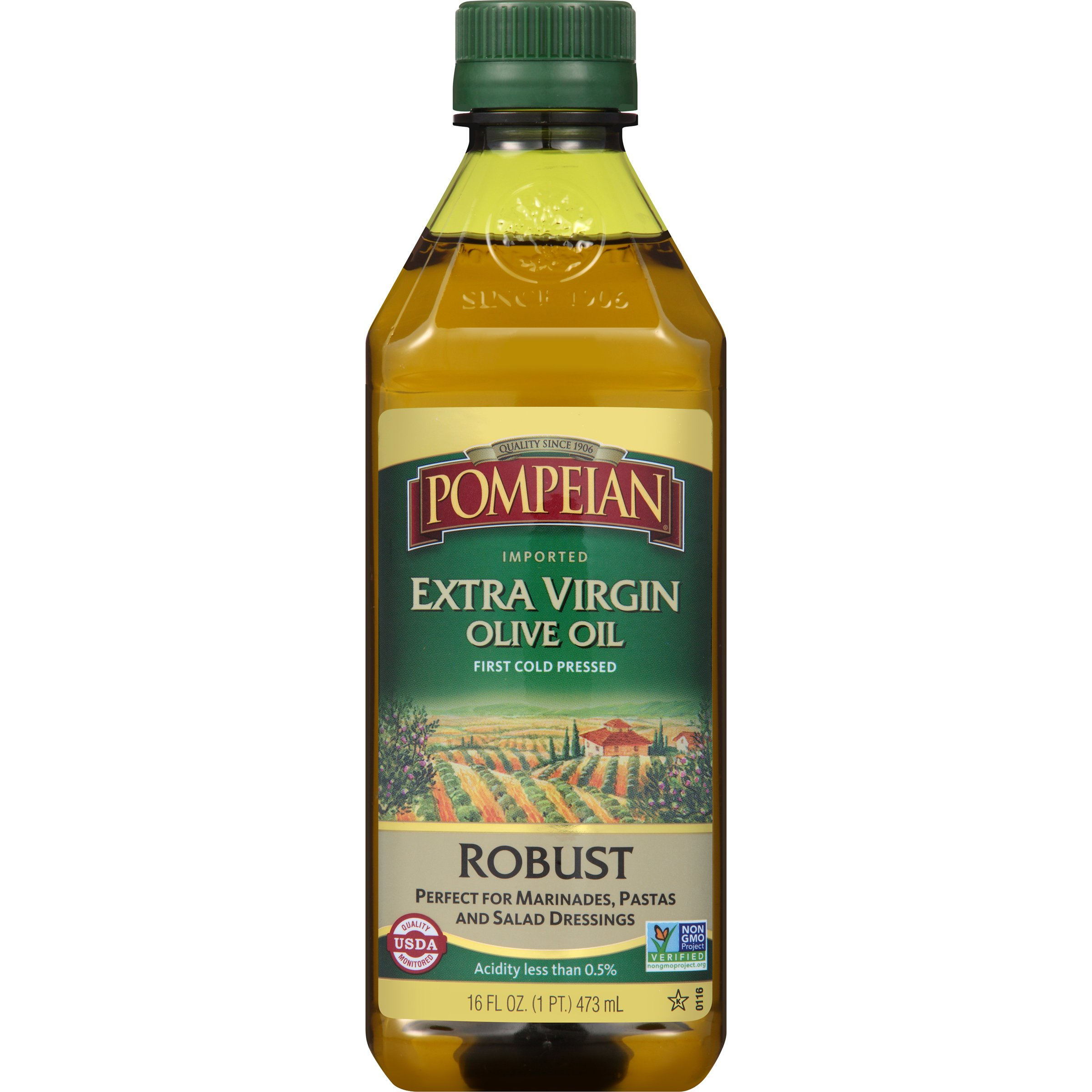 Pompeian Robust Extra Virgin Olive Oil, 16 Ounce