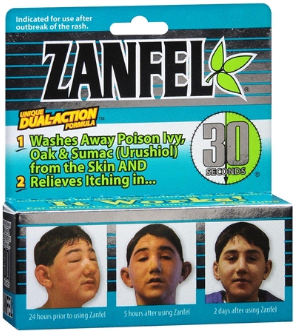 Zanfel Wash For Poison Ivy, Oak & Sumac (Urushiol) 1 oz (Pack of 7)