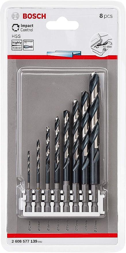 f/ür Metall, 2,5 x 30 x 69 mm, Zubeh/ör Schlagbohrmaschine Bosch Professional Impact Control HSS Spiralbohrer