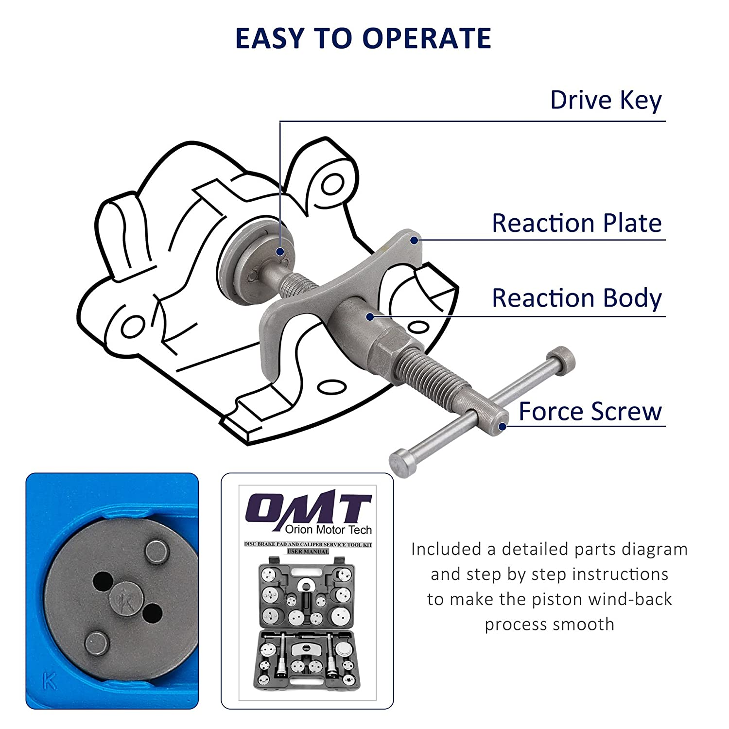 amazon com orionmotortech 22pcs heavy duty disc brake piston rh amazon com shimano disc brake parts diagram disc brake parts list