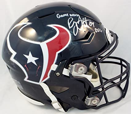 abd0728265a Ryan Griffin Houston Texans Autographed 2016 Game Worn Helmet - NFL  Autographed Game Used Helmets