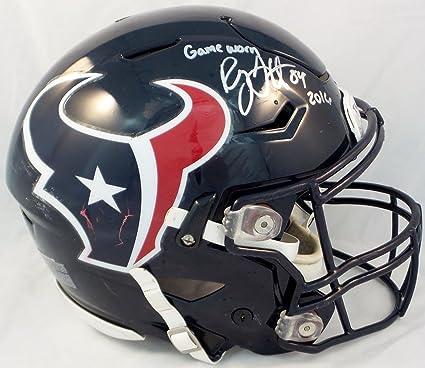 572456b4bc0ea Amazon.com: Ryan Griffin Houston Texans Autographed 2016 Game Worn ...