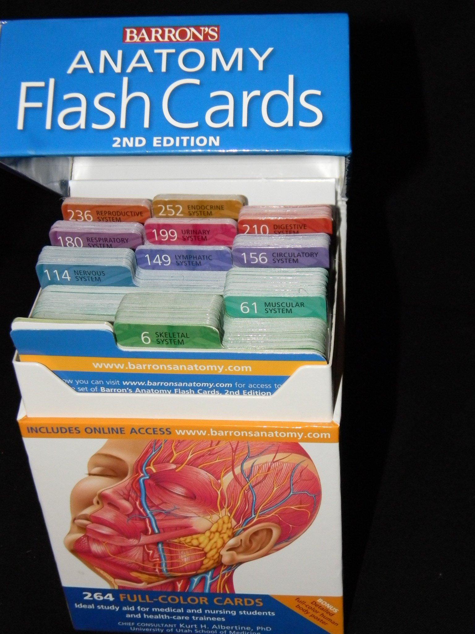 Barron\'s Anatomy Flash Cards, 2nd Edition by Albertine Ph.D., Kurt ...