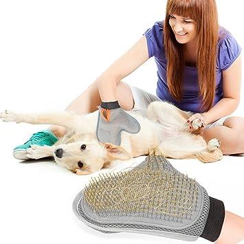 Ploopy Guante para Cepillar Perros y Gatos, Manopla para Baño de Perros y Gatos, Cuida la piel y el Pelaje de tu Animal, Ideal para Aplicar Masajes a ...