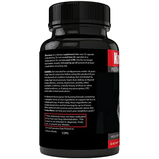 amazon com instant knockout fat burner diet supplement pill for men and women high impact weight loss dietary pills knock out by nutra4health 60 days