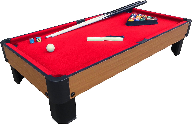 PLAYCRAFT Deporte Banco Shot – Mesa de Billar - PSPT4001R, Rojo: Amazon.es: Deportes y aire libre