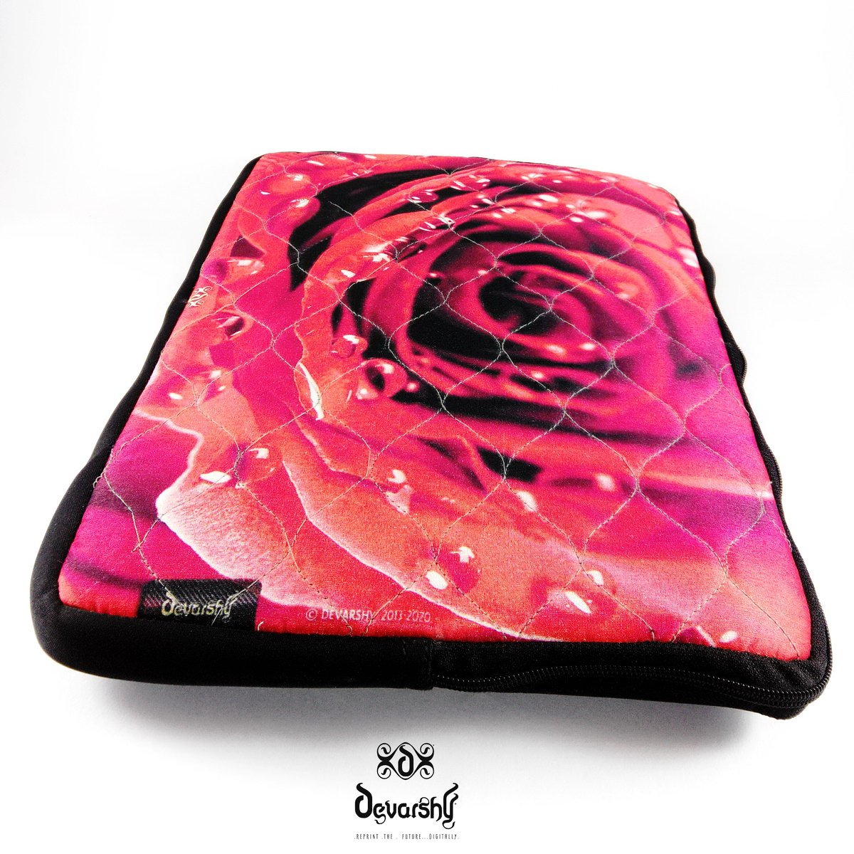 17 Inch Laptop Sleeve Red Rose