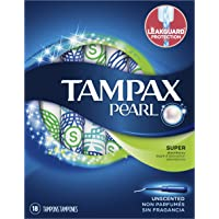 Tampax Pearl Super Plastic Tampons - 18 Count (Unscented)
