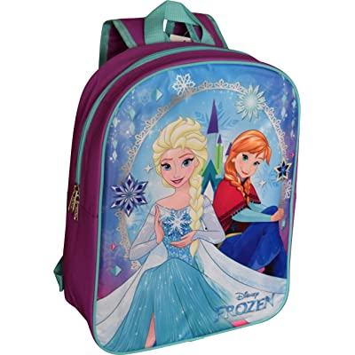 "Group Ruz Disney Frozen Elsa & Anna 15"" Backpack (Purple-Blue): Sports & Outdoors"