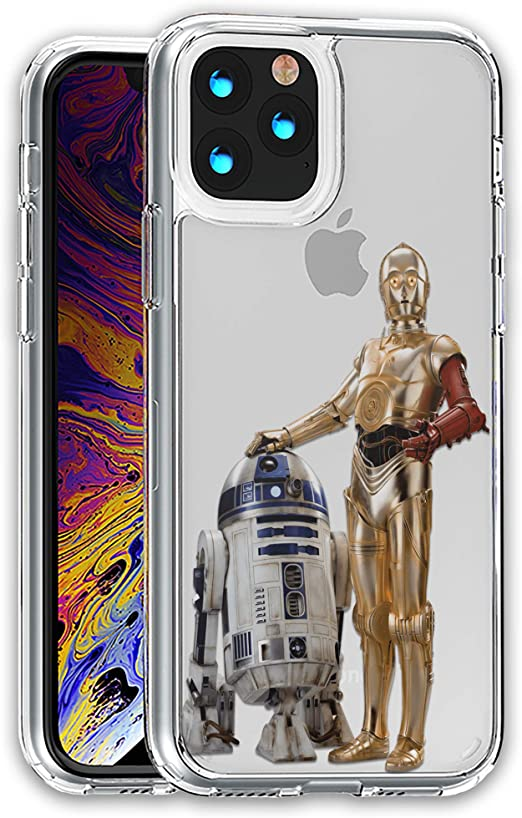 Amazon.com: R2-D2 C3PO Star Clear case Compatible with iPhone 12 ...