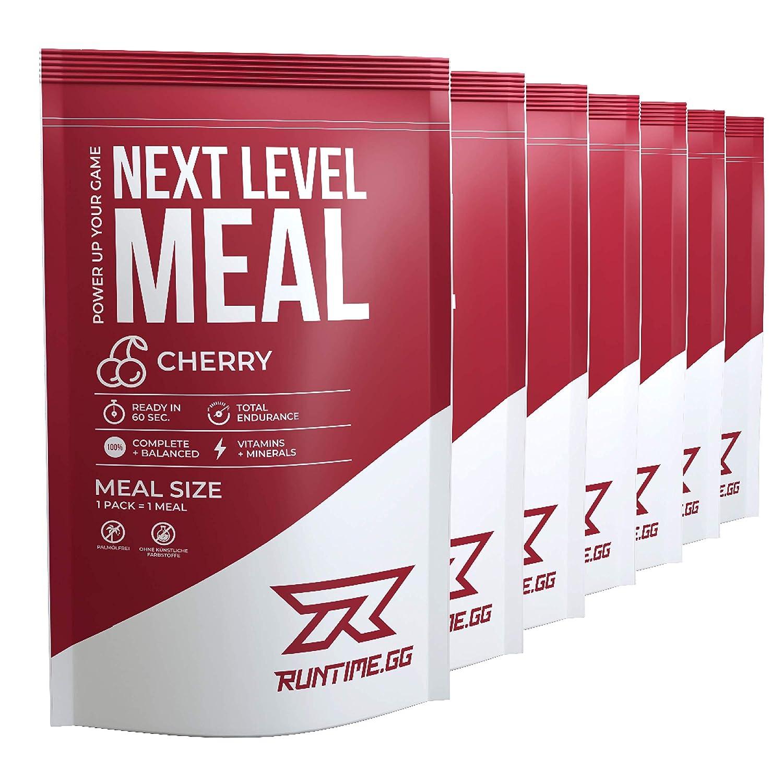 Runtime Meal 7x | Sustituto de las comidas que proporciona saciedad, energía, concentración | 25 vitaminas, minerales y nutrientes (Coffee)