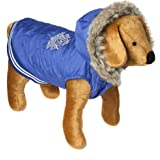 Doggy Things Waffle Coat, M, Blue