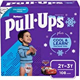 Boys Potty Training Underwear, Easy Open Training Pants 2T-3T, Pull-Ups Cool & Learn for Toddlers, 108ct 1 Month Supply