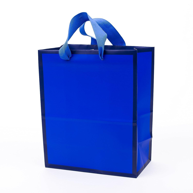Hallmark Medium Gift Bag (Navy Blue With Border) by Hallmark