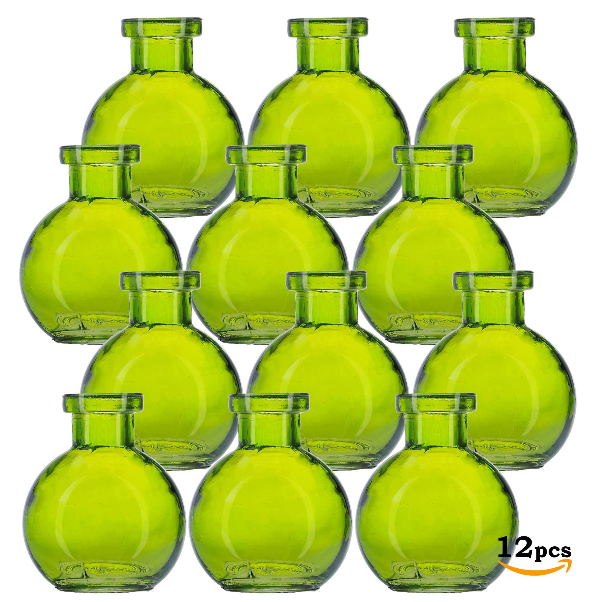 Glassnow C6545G01-N Ball Glass Bottle No Cork, 3.4oz, 12 Pieces, Lime, 100 ml
