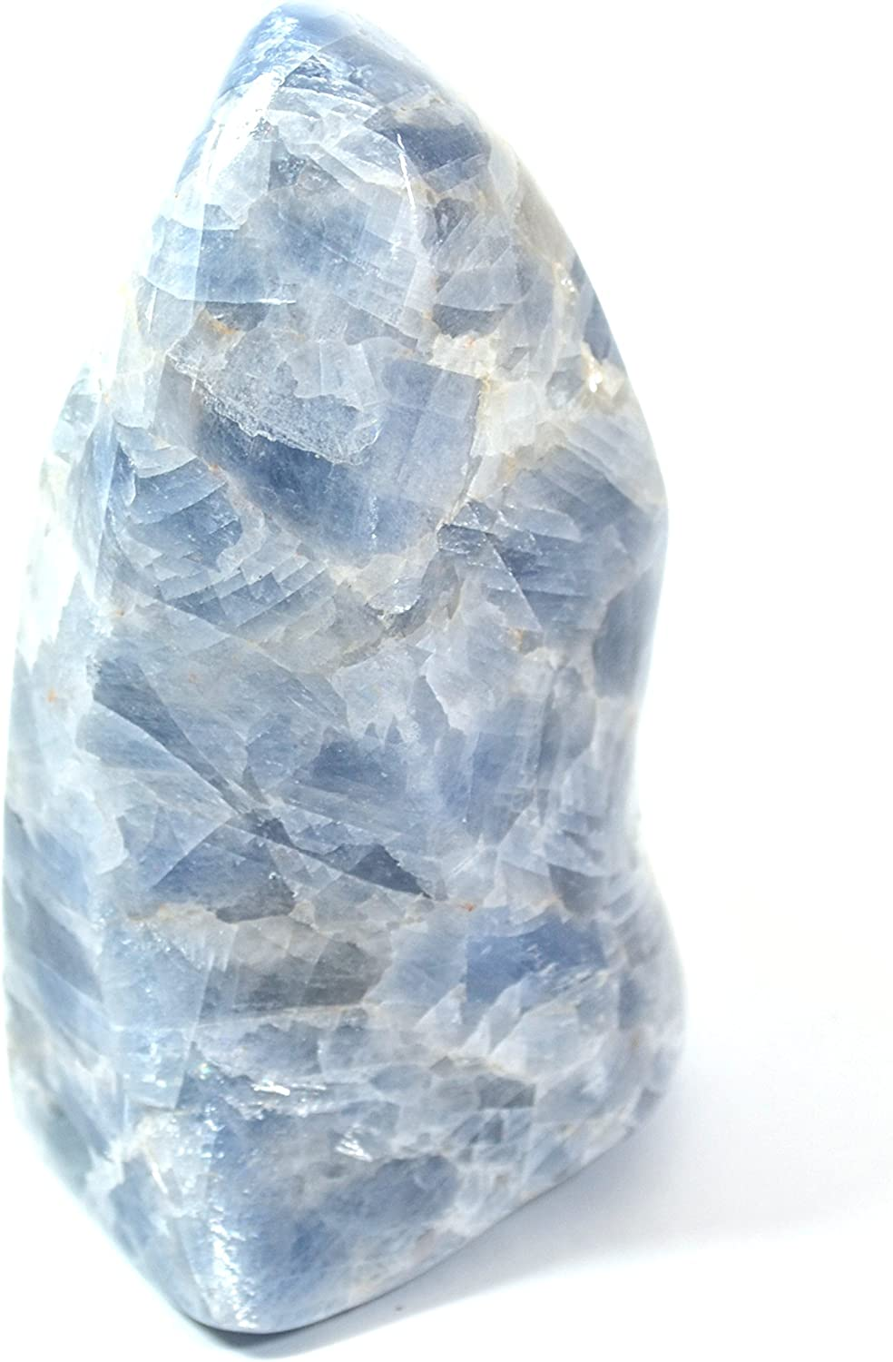 Sky Blue Calcite Flame Weighs 0.5-1kg Free Form 6 Tall The Artisan Mined Series by hBAR