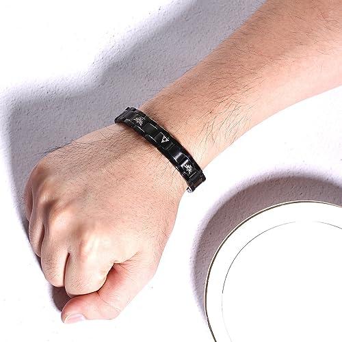 Legend of Zelda Bracelet Link Triforce Wristband Anime Men Woven Locked Jewelry