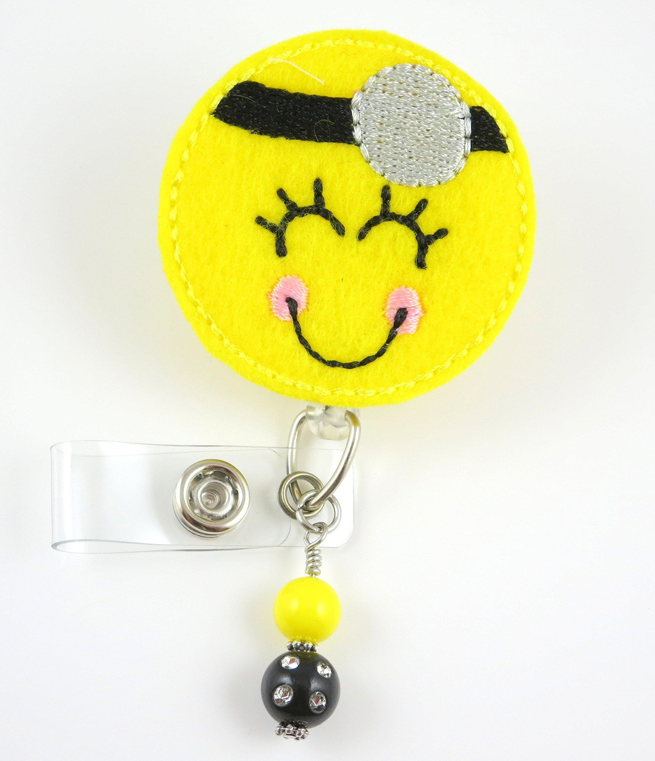 Smiley Doctor - Nurse Badge Reel - Retractable ID Badge Holder - Nurse Badge - Badge Clip - Badge Reels - Pediatric - RN - Name Badge Holder