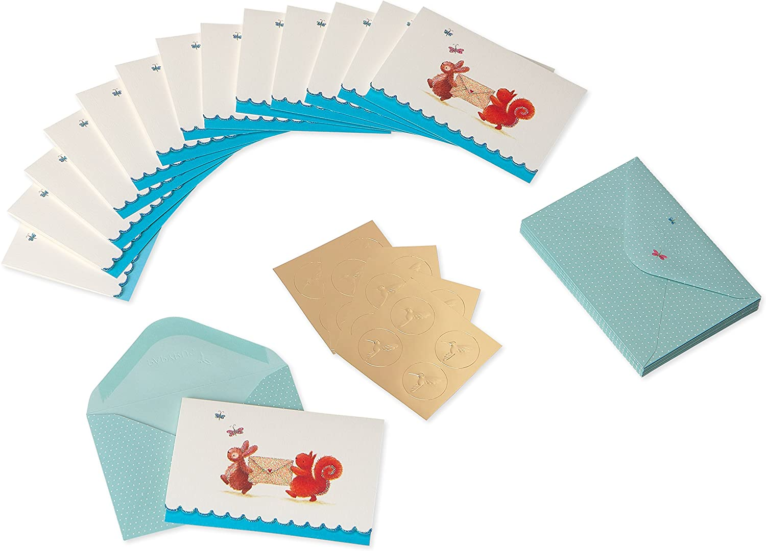 14-Count Purple Hummingbird Papyrus Boxed Cards
