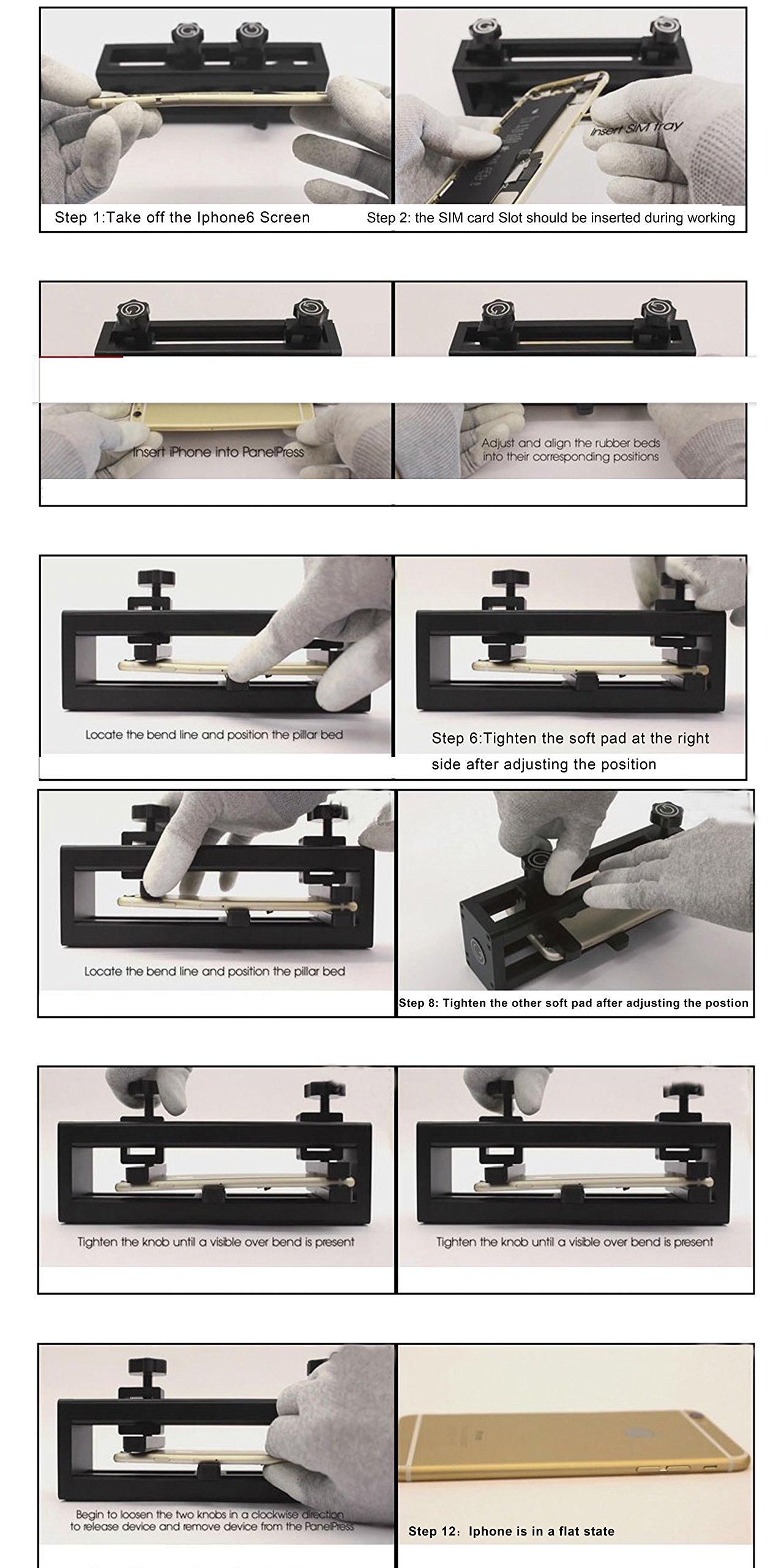 YaeTek Corner Sidewall Frame Bending Repair tool for iphone7, 7 plus, 6, 6 plus,6s, 6s plus,5,5s by YaeTek (Image #9)