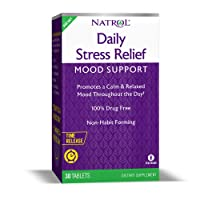 Natrol Daily Stress Relief Mood Support Time Release Tablets, Promotes a Calm & Relaxed Mood, Supports Healthy Serotonin Levels, 100mg, 30 Count